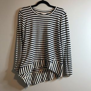 Cabi blue and white striped shirt size small